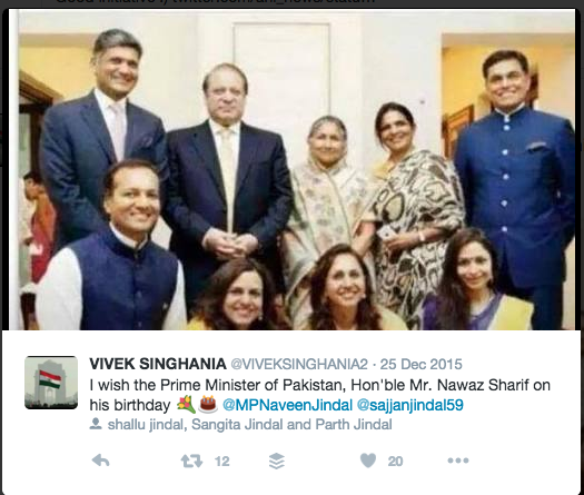 Jindal Sharif meeting; part of back channel diplomacy reports BBC