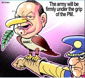 Nawaz picks up  favourite suicidal  course, Army  ducks the bouncer