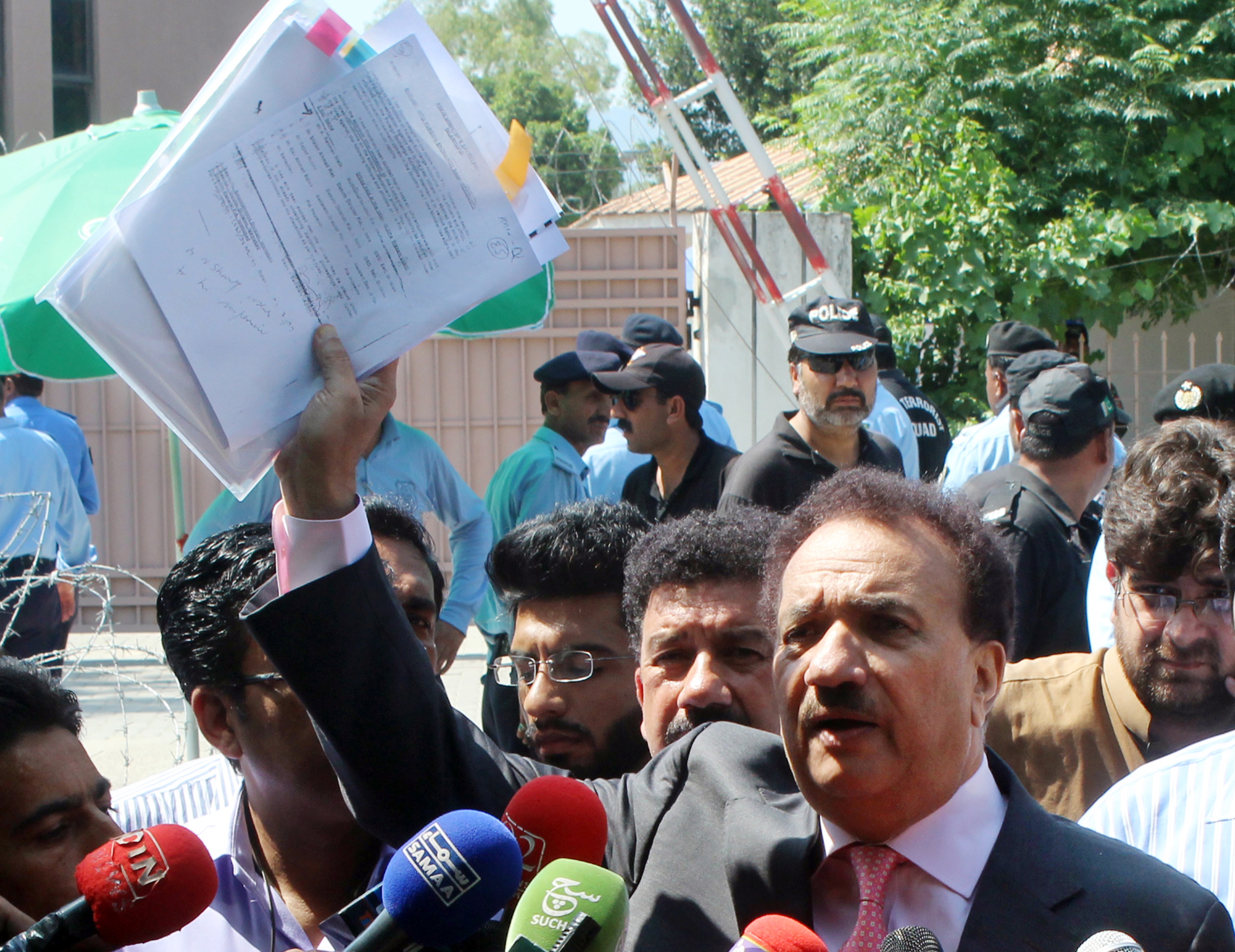Rehman Malik submits FIA report against Sharif Family before the JIT