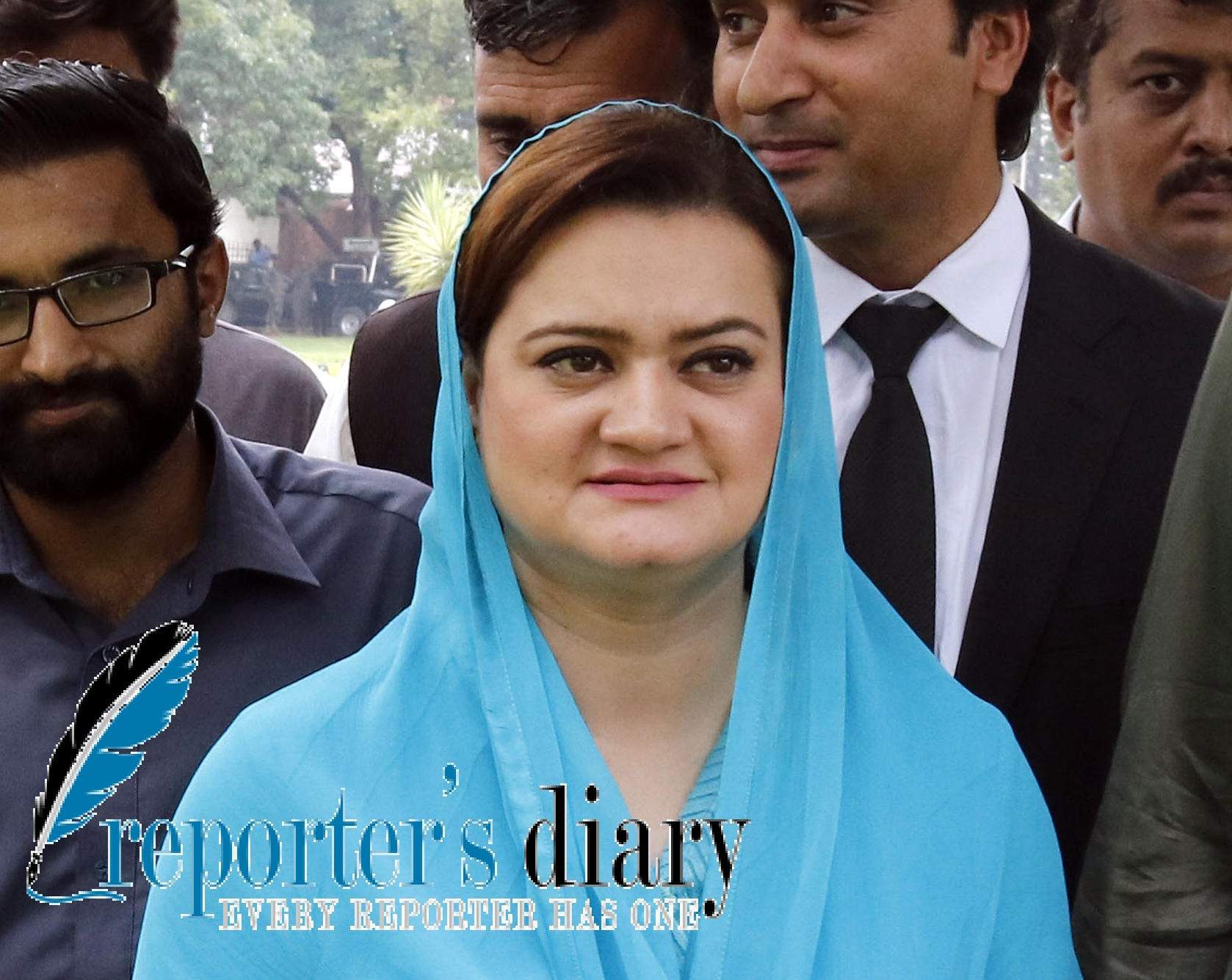 Marriyum Aurangzeb Minister of State for Information and Broadcasting arrives to attend the Supreme Court of Pakistan proceeding on the Panama Papers