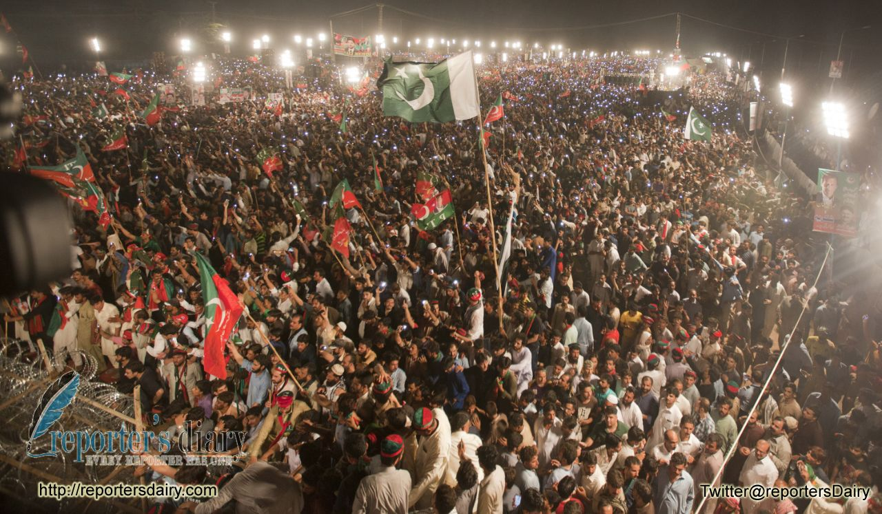 "Pakistan Tahreek e Insaf's ""Youm-e-Tashakur"" rally in pictures"