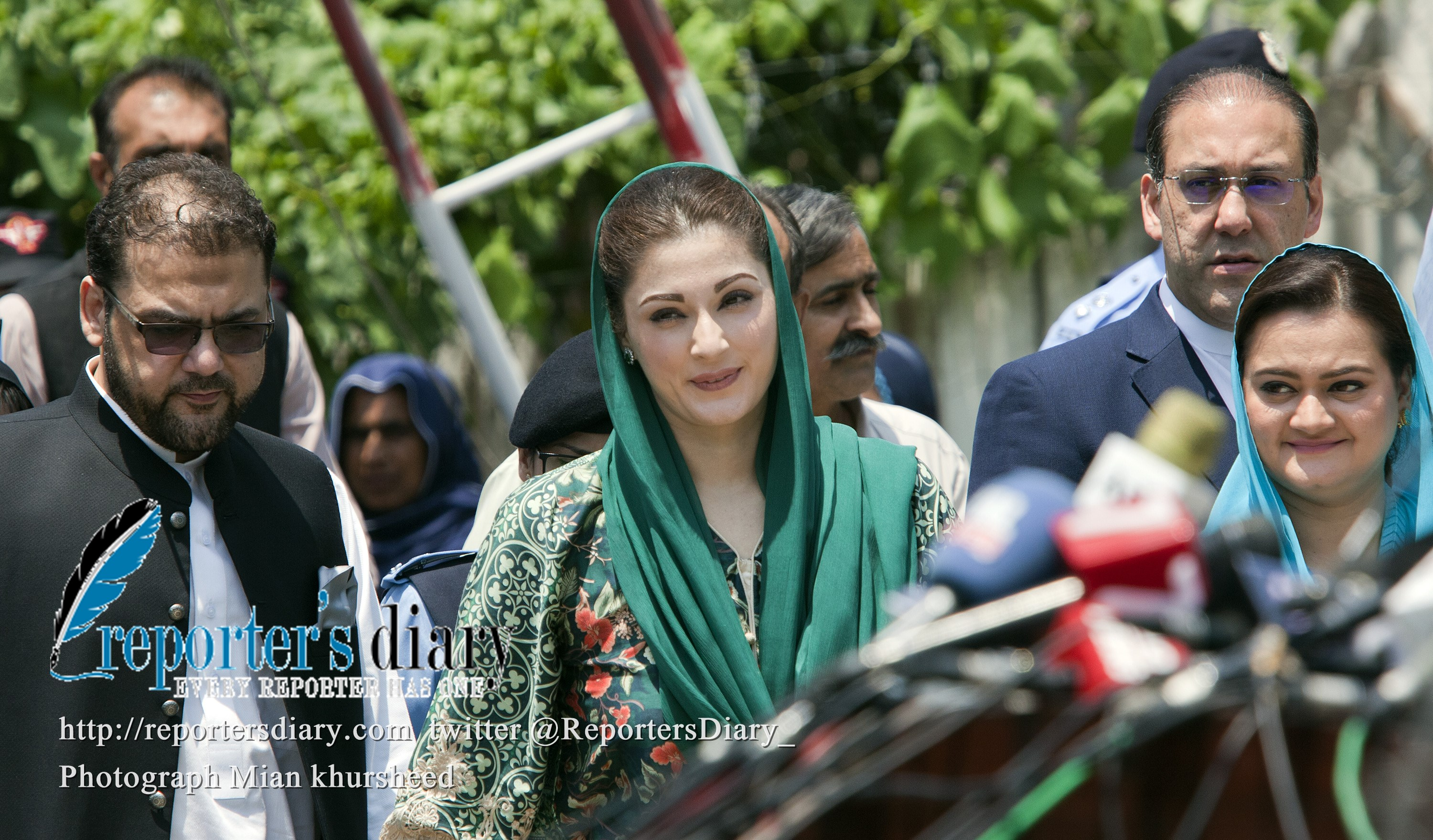 Maryam Nawaz Sharif, Prime Minister Nawaz Sharif's daughter, appeared on Wednesday for the first time before the JIT