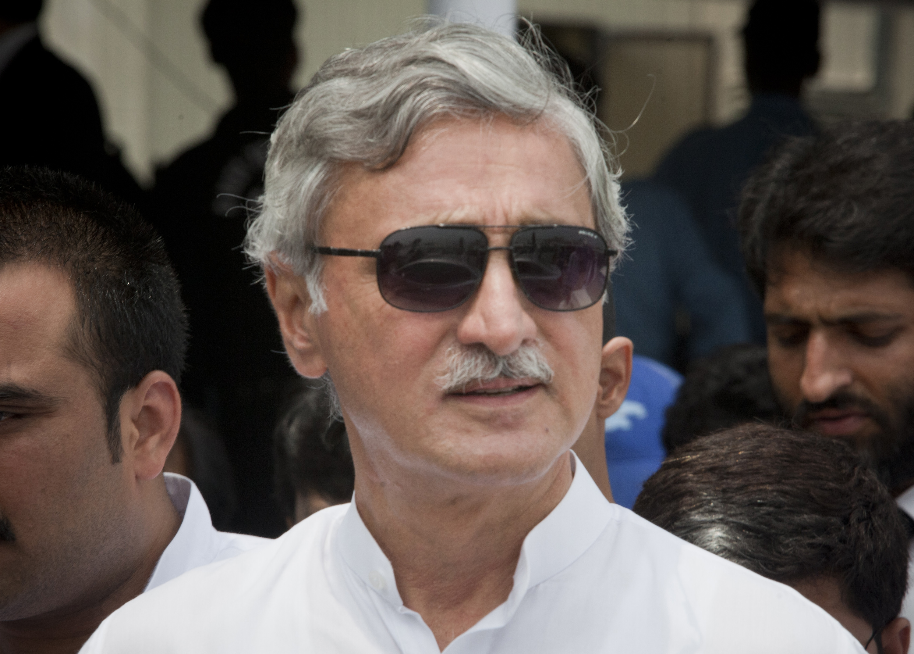 Jahangir Khan Tareen a leader of PTI as he leaves after attend the SC of Pak proceeding on the Panama Papers