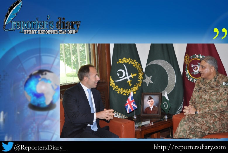 Mr. Thomas Drew , British High Commissioner today called on COAS General Qamar Javed Bajwa at GHQ.