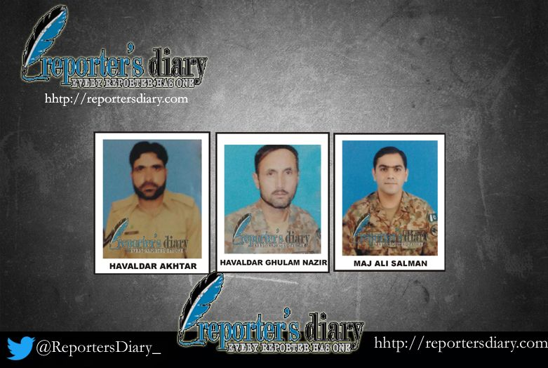Major among four army officials martyred in KPK