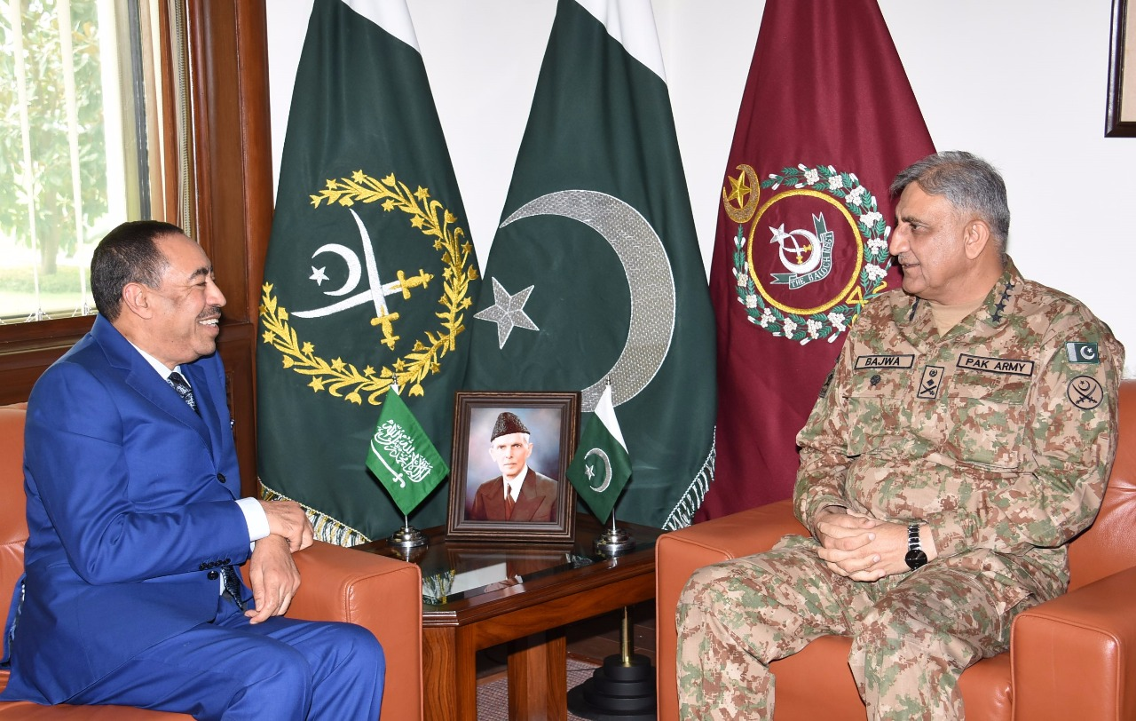 Mr. Mohammad Bin Abdullah Al-Aysh, Deputy Defence Minister, KSA called on Chief of Army Staff (COAS) General Qamar Javed Bajwa today.