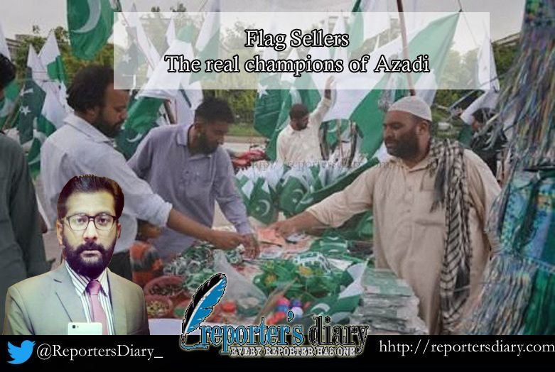 """Flag Sellers…The real champions of AZADI"" Dr Nabeel Alvi"