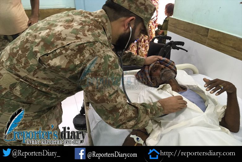 Pak Army established a free medical camps in Tharparker : ISPR