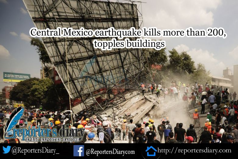 powerful earthquake jolted central Mexico on Tuesday, killing more than 130 people