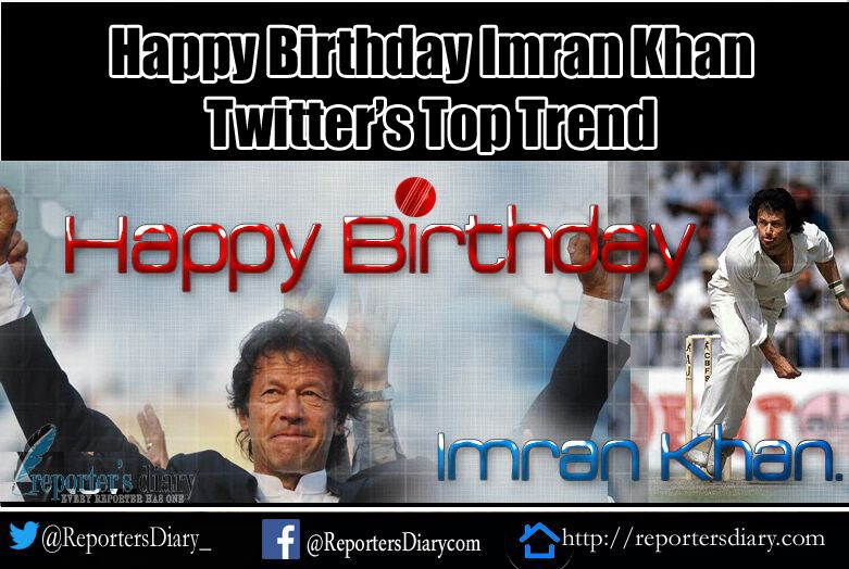 Happy Birthday Imran Khan trending on Twitter