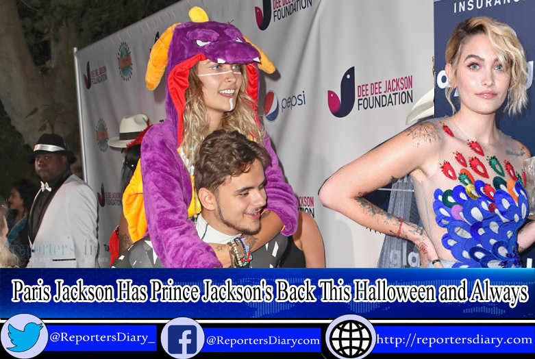 Paris and Prince Jackson celebrates Halloween