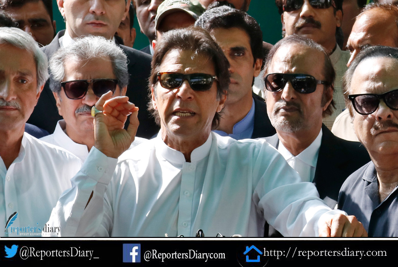 Imran Khan, Chairman Pakistan Tehreek-e-Insaf appears before the ECP
