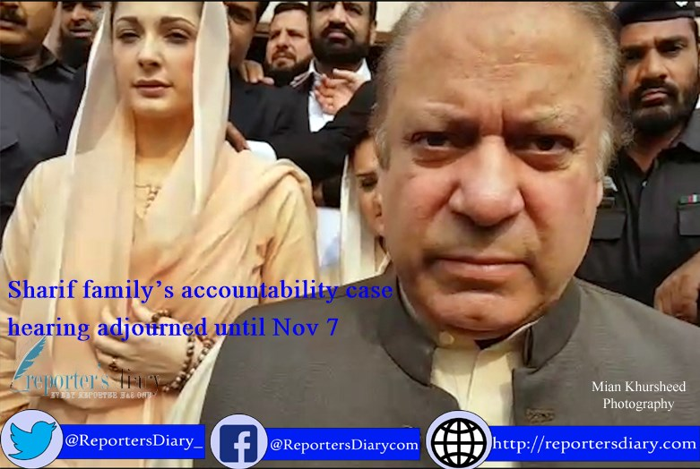 Sharif family's accountability case hearing adjourned until Nov 7