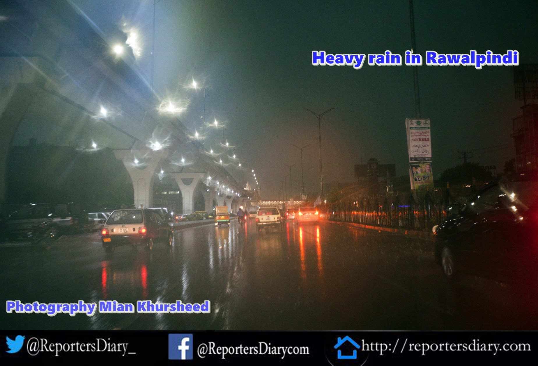 Heavy rain in Rawalpindi