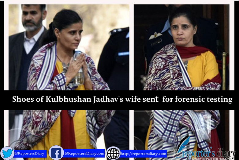 Shoes of Kulbhushan Jadhav's wife sent for forensic testing