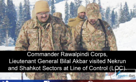 Commander Rawalpindi Corps, Lieutenant General Bilal Akbar visited Nekrun and Shahkot Sectors at Line of Control (LOC).