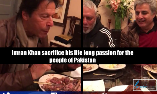 Imran Khan sacrifice his life long passion for the people of Pakistan