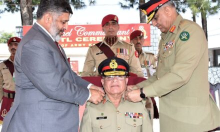 Army chief visited army medical center Abbottabad today